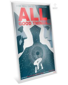 """2018 5 gram Niue Star Trek: The Next Generation - """"All Good Things..."""" .999 Silver Coin Note"""