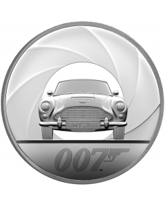 2020 1 Kg Great Britain Special Issue DB5 James Bond 007 .999 Silver Proof Coin (Cert No 6)