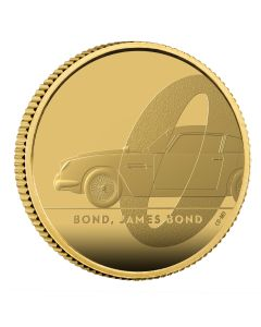 2020 1/4 oz Great Britain DB5 James Bond 007 .9999 Gold Proof Coin