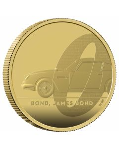 2020 2 oz Great Britain DB5 James Bond 007 .9999 Gold Proof Coin