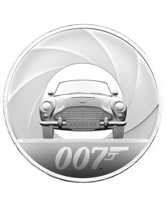 2021 10oz United Kingdom Special Issue DB5 James Bond 007 .999 Silver Proof Coin