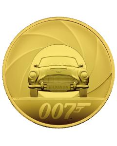 2021 10oz United Kingdom Special Issue DB5 James Bond 007 .999 Gold Proof Coin