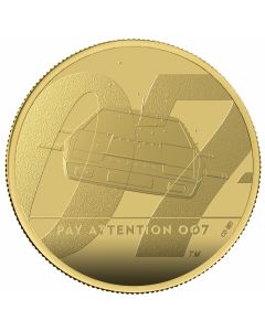 2020 1 oz Great Britain James Bond 2 Pay Attention 007 .9999 Gold Proof Coin