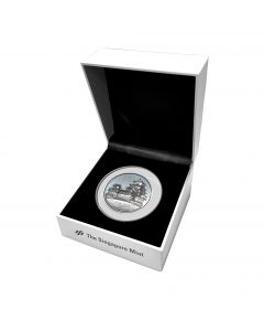 2020 2 oz Cambodia Landmarks of Asia Coin Series - Japan Himeji Castle .999 Silver High Relief Antiqued Coin