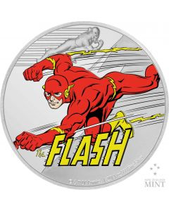2020 1 oz Niue Justice League 60th Anniversary - The Flash .999 Silver Proof Coin