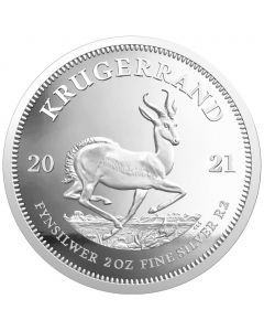 2021 2 oz South Africa Krugerrand 999 Silver Proof Coin