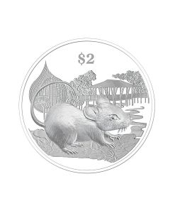 2020 20 gram Singapore Lunar Year of the Rat Nickel-Plated Zinc Proof-Like Coin