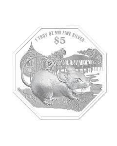 2020 1 oz Singapore Lunar Year of the Rat .999 Silver Proof Coin