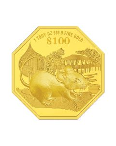 2020 1 oz Singapore Lunar Year of the Rat .9999 Gold Proof Coin