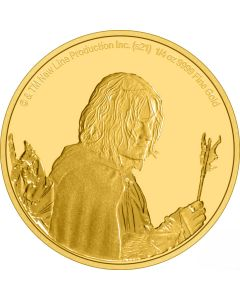 2021 1/4oz Niue Lord Of The Ring Classic Series -  Aragorn .9999 Gold Proof Coin