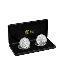 2020 1 oz Great Britain Britannia .999 Silver Proof & Reverse Proof Two Coin Set