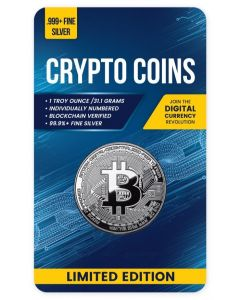 2020 1 oz Chad Crypto Series - Bitcoin .999 Silver Proof Like Coin