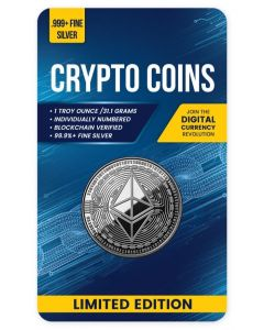 2020 1 oz Chad Crypto Series - Ethereum .999 Silver Proof Like Coin