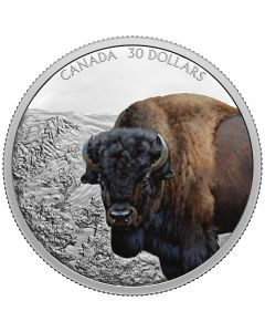 2021 2oz Canada Imposing Icons Series -  Bison .9999 Silver Proof Coin