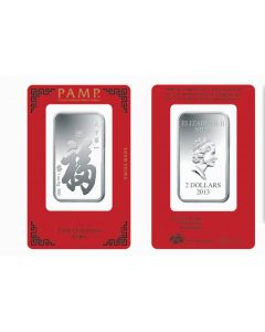 1oz Niue Pamp Suisse - True Happiness .999 Silver Bar (In Assay)