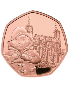 2019 15.5 gram Great Britain Paddington at the Tower .9167 Gold Proof Coin