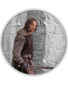 2021 1oz Niue Lord Of The Rings Classic Series -  Aragorn .999 Silver Proof Coin