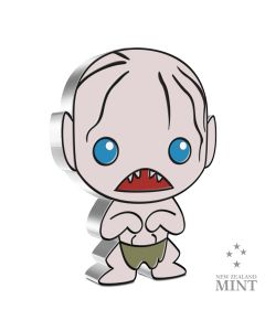 2021 1oz Niue Chibi Collection Lord Of The Rings Series - Gollum .999 Silver Proof Coin