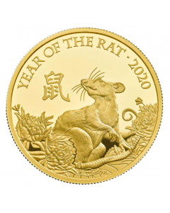 2020 1 oz Great Britain Lunar Series Year of the Rat .9999 Gold Proof Coin