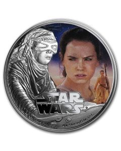 2016 1 oz Niue Star Wars - Rey .999 Silver Proof Coin