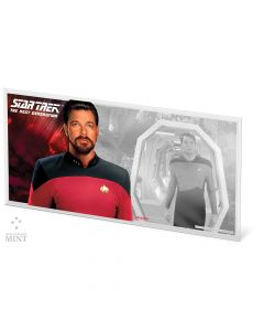 2019 5 gram Star Trek: The Next Generation Characters William T.Riker 999 Silver Coin Note