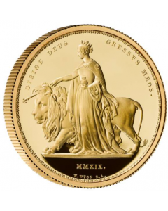 2019 2 oz Great Britain The Great Engravers – William Wyon – Una and the Lion 9999 Gold Proof Coin