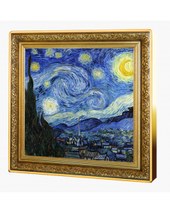2020 1 oz Niue Treasures of World Painting - The Starry Night .999 Silver Proof Coin