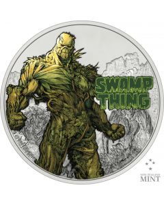 2021 1oz Niue DC Comics Series -  Swamp Thing 50th Anniversary  .999 Silver Proof Coin