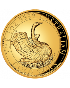 2020 1 oz Australia  Swan .9999 Gold High Relief Proof Coin