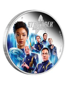2019 2 oz Tuvalu Star Trek Discovery Crew .9999 Silver Proof Coin