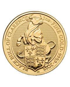 2018 1 oz Britain The Queen's Beasts - The Black Bull .999 Gold BU Coin