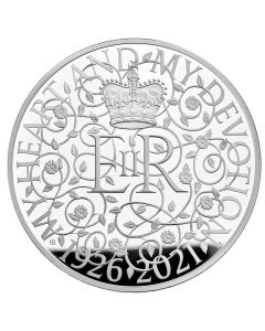 2021 1 Kg Great Britain The 95th Birthday of Her Majesty The Queen .999 Silver Proof Coin