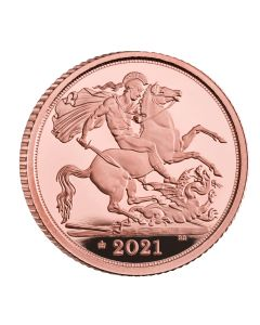 2021 3.99 gram Great Britain The Half-Sovereign .9167 Gold Proof Coin