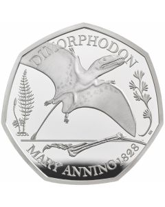 2021 8g Great Britain The Mary Anning Collection - Dimorphodon .925 Silver Proof Coin