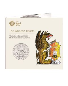 2021 28.28g Great Britain Queen's Beasts - The Griffin Of Edward III Cupro Nickel Coin