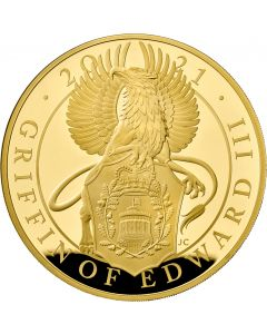 2021 1 Kg Great Britain Queen's Beasts - The Griffin Of Edward III.999 Gold Proof Coin
