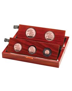 2021 69.89 gram Great Britain The Sovereign .9167 Five Coin Set