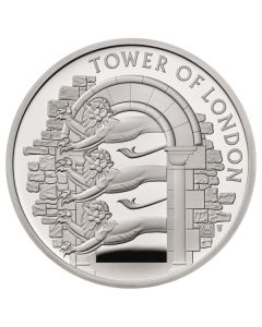 2020 28.28 gram Great Britain The Tower of London - The Royal Menagerie .925 Silver Proof  Coin