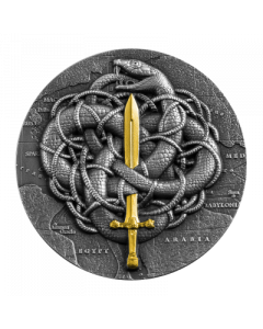2021 2oz Cameroon The Gordian Knot .999 Silver Antique Coin