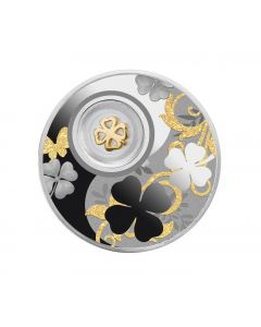 2020 14.14 gram Republic of Cameroon Four Leaf Clover .999 Silver Proof Coin