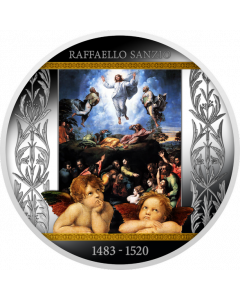 2020 17.5 gram Cameroon 500th Anniversary of the death of Raphael - Transfiguration .999 Silver Proof Coin