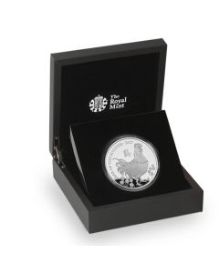 2017 5 oz Britain Lunar of the Rooster 999 Silver Proof Coin