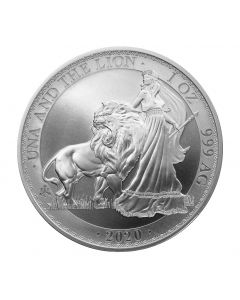 2020 1 oz St Helena Una and the Lion .999 Silver Coin BU