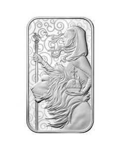 2021 1 oz Great Britain The Great Engravers Collection : Una And The Lion .9999 Silver Bar