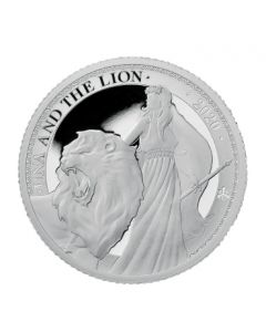 2020 St Helena 1oz Una and the Lion .999 Silver Proof Coin