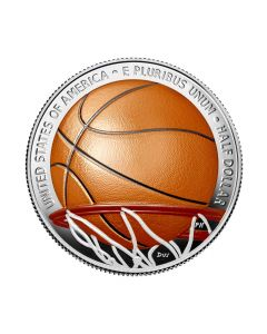 2020 11.34 gram United States Basketball Hall of Fame Colorized Nickel & Copper Coin