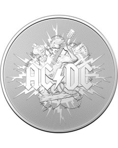 2021 1 oz Australia AC/DC .999 Silver Frosted Uncirculated Coin
