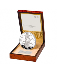 2020 1 kg Great Britain The Queen's Beasts - The White Lion of Mortimer .999 Silver Proof Coin