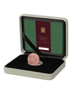2020 8 gram Great Britain Withdrawal from the EU Strike On The Day Sovereign .9167  Gold Proof Coin