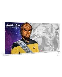 2019 5 gram Niue Star Trek: The Next Generation Characters Worf 999 Silver Coin Note